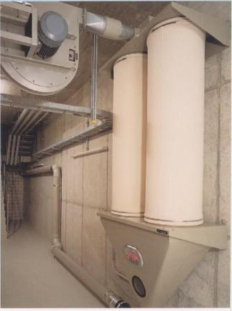 Image of Dust Collector linked to Central Vacuum System