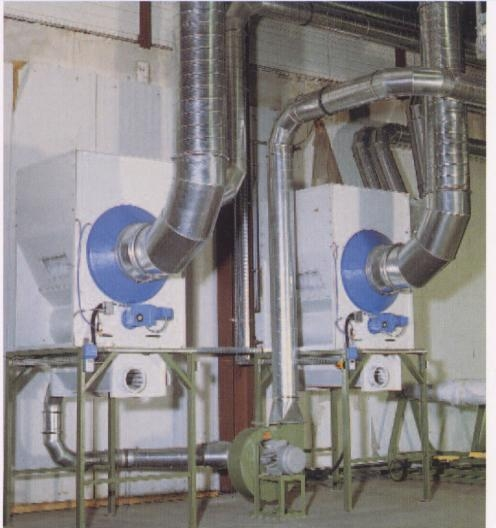 Image of the Waste Separator as part of a continuous suction system